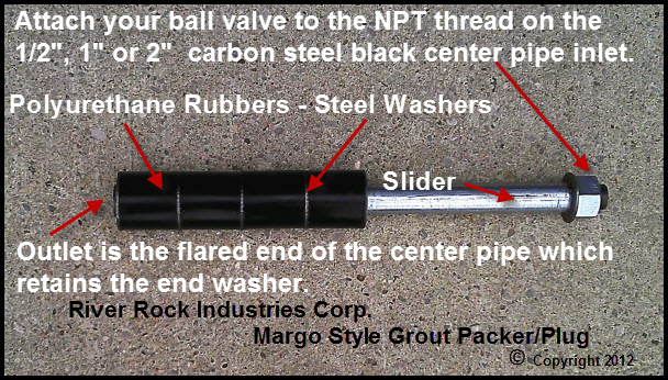 River Rock Grout Plug