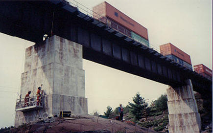 CN Rail Bridge Pier Epoxy Crack Repair