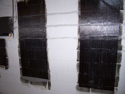 Wall is repaired using StablWall Carbon Fiber System.